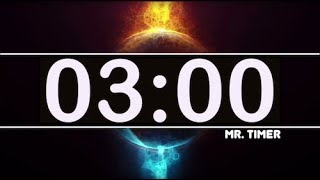3 Minute Timer with Epic Music! Countdown Clock 3 Minutes, High Energy, Kids Timer HD!