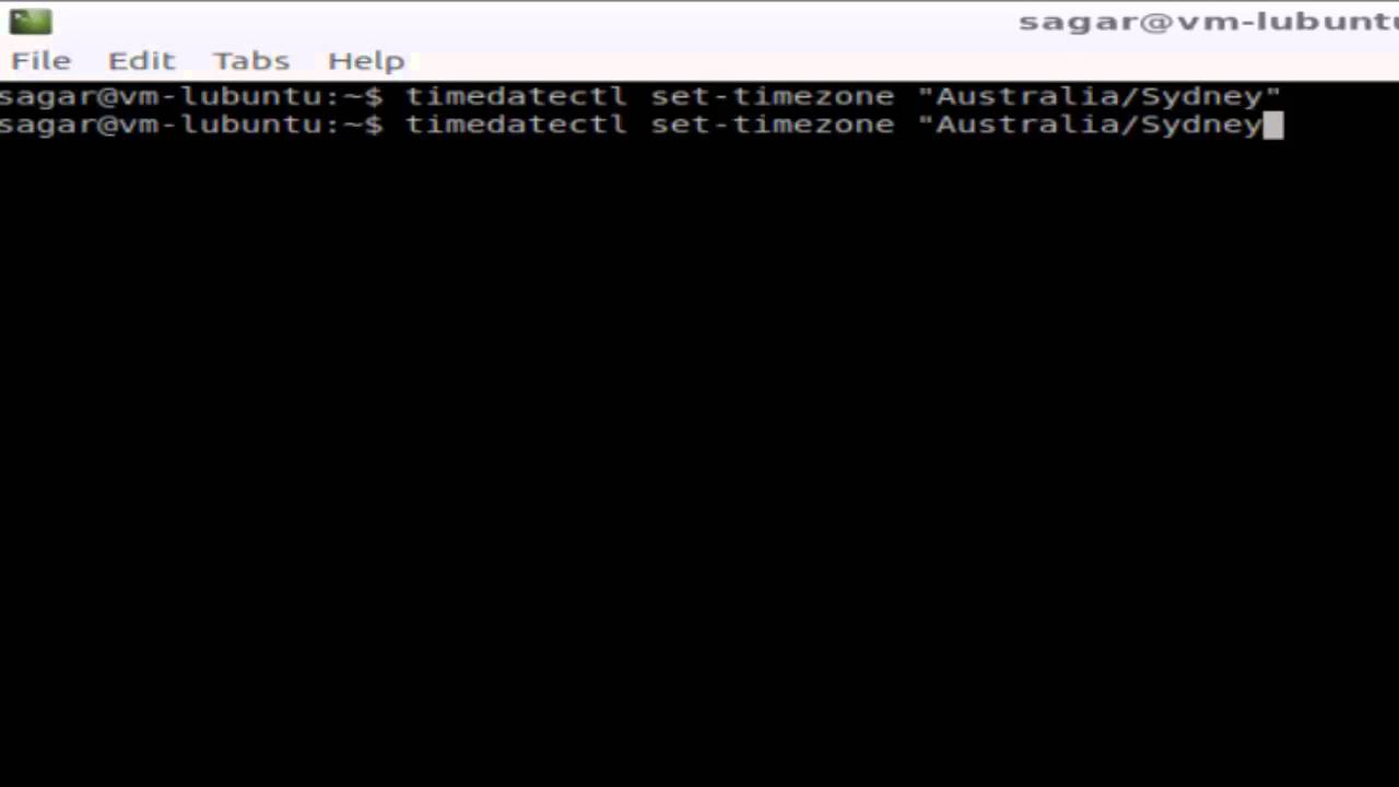 How to change the time zone in Ubuntu