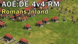 Age of Empires: Definitive Edition - 4v4 RM Gameplay Romans - eartahhj - 22/02/2018