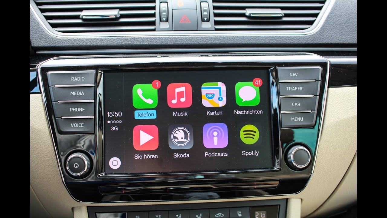 apple carplay im neuen skoda superb test review youtube. Black Bedroom Furniture Sets. Home Design Ideas