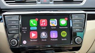 Apple Carplay im neuen Skoda Superb Test Review