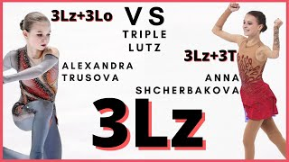 Alexandra TRUSOVA vs Anna SHCHERBAKOVA TRIPLE LUTZ 3Lz