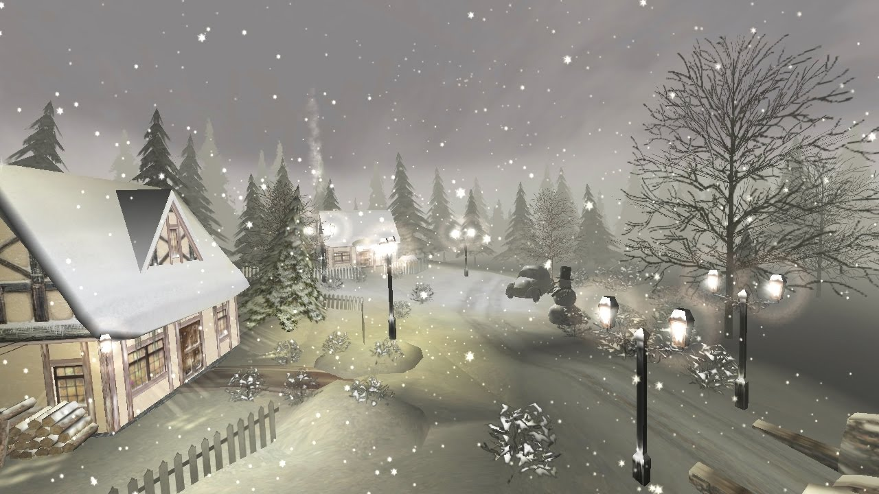 winter 3d screensaver for windows hd youtube