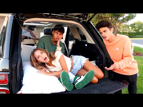 24 HOUR OVERNIGHT CHALLENGE IN BRENT'S CAR!!