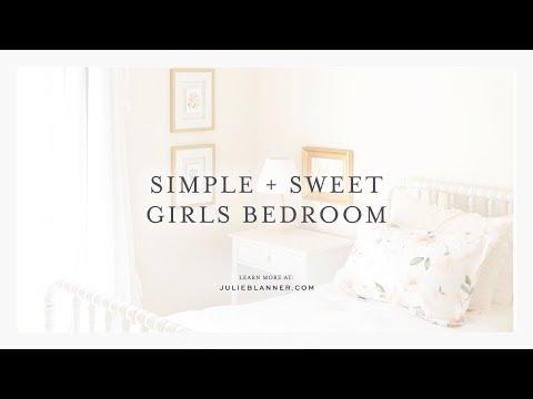 Simple + Sweet Girls Bedroom