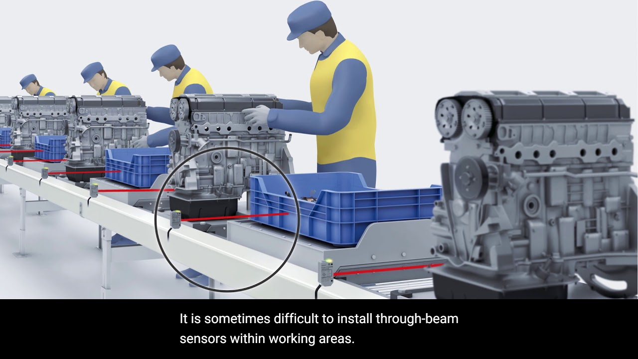 OMRON E3AS Photoelectric Sensors | Flexible design for Automotive Industry with no reflectors
