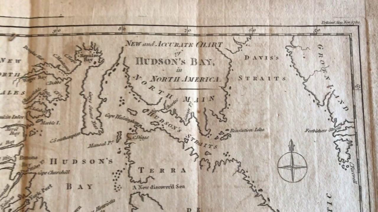 Canada Hudson Bay Newfoundland 1782 Lodge map Political Magazine Lake  Superior Labrador w/ discovery