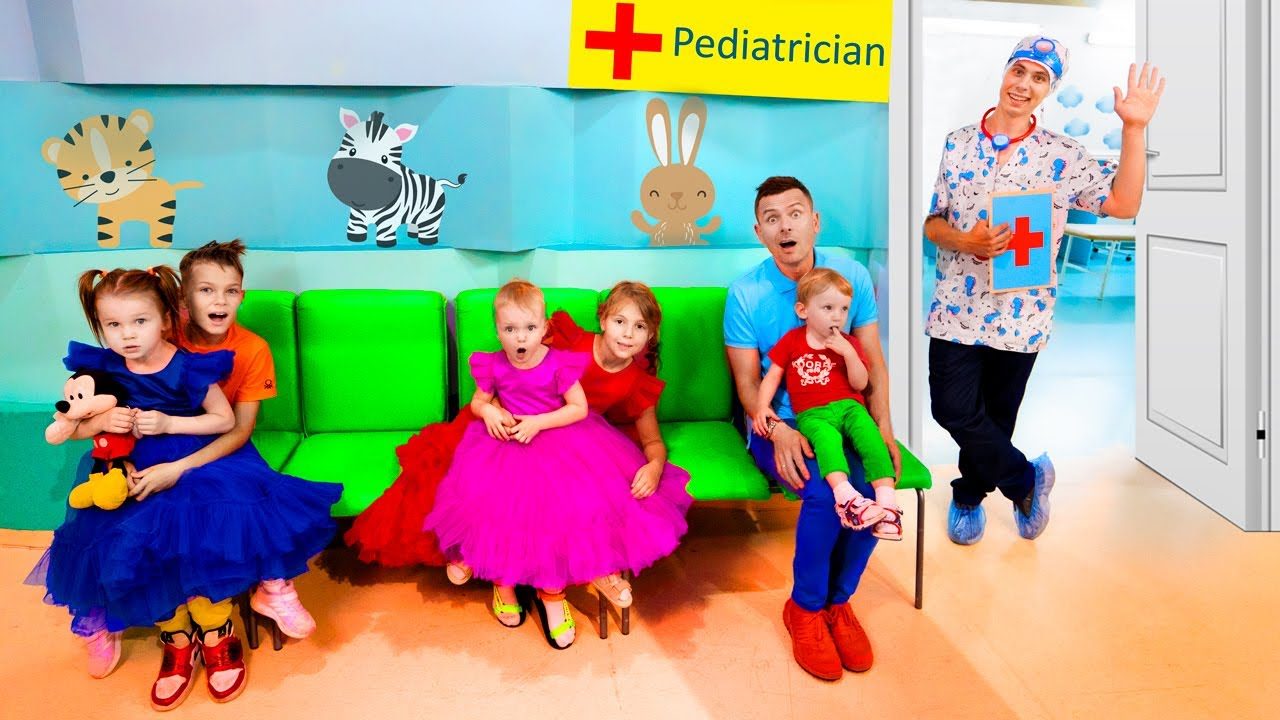 Five Kids Doctor Checkup Song + more Children's Songs and Videos