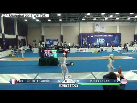 FE W F Individual Shanghai CHN GP 2016 T08 03 blue GEBET FRA vs KIEFER USA