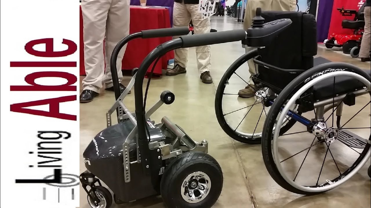 Electric bike adaption for wheel chair youtube - See How Easily You Can Turn A Manual Wheelchair Into A Power Wheelchair