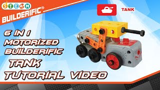 Builderific™ HOW TO - Motorized Tank Tutorial Video | RED BOX TOY