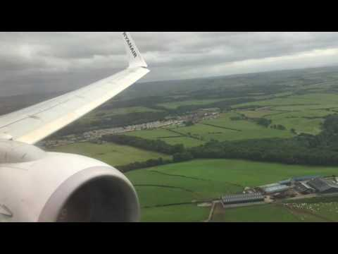 [WINDY] Landing in Prestwick | 737-800 | Ryanair