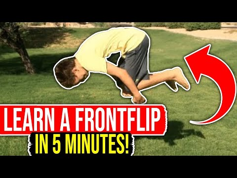 How To Do A Front Flip (BOTH WAYS!)