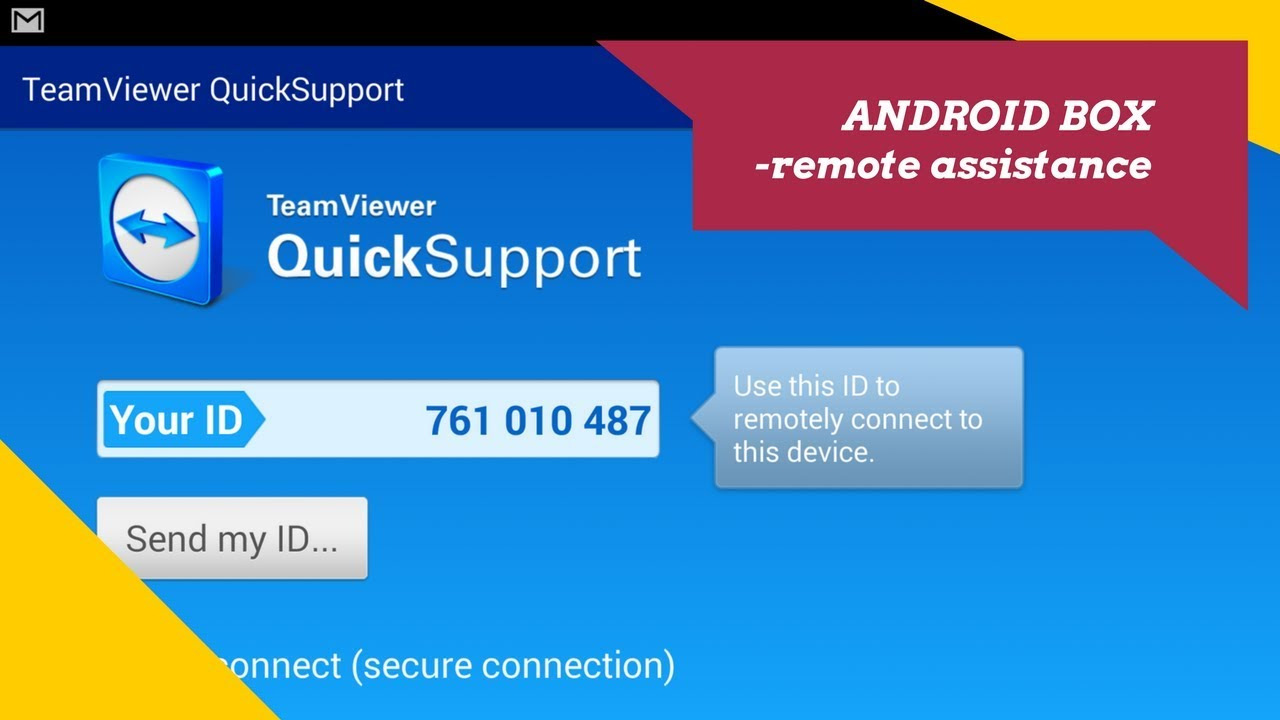 Quick Support on Android Box - Get Remote Assistance