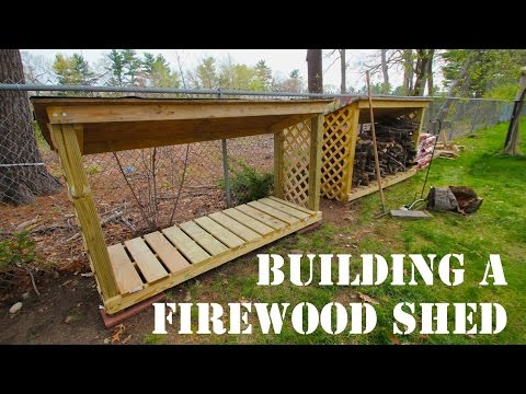 MDM Builds a Firewood Shed - Instructions in Description