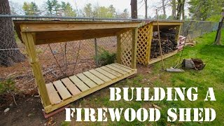 How To Build A Firewood Shed - Mdm Builds A Firewood Shed - Instructions In Description