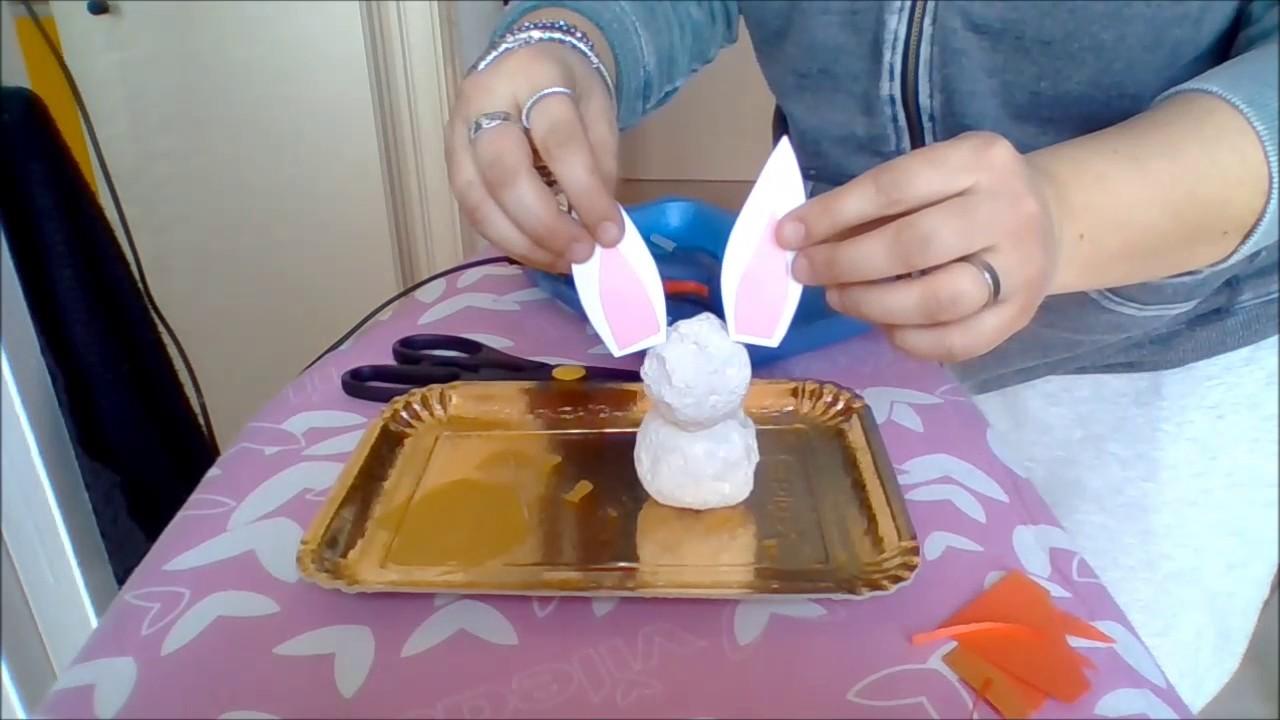 Lavoretti pasqua bambini coniglio pasquale segnaposto for Youtube lavoretti per bambini
