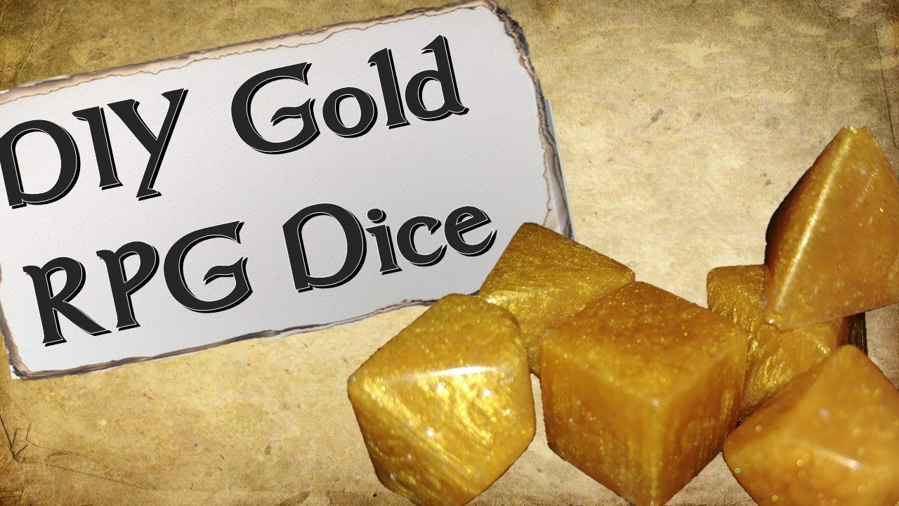 How to Make Your Own Dice Set | Gold Resin Dice