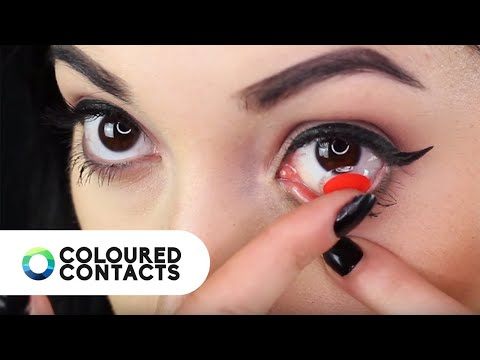 Coloured Contact Lens Tips & Tricks with Lady Paradoxx