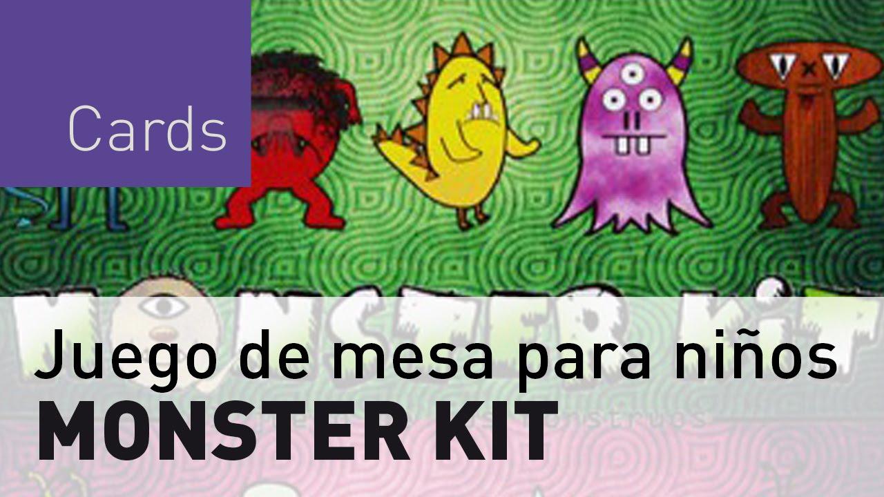 Monster Kit Juego De Mesa Para Ninos Youtube