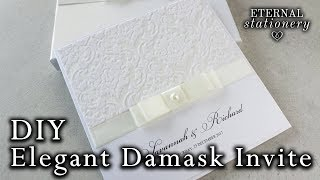 Simple and elegant damask invitation tutorial | DIY Wedding Invitations