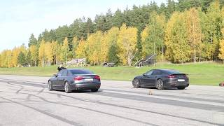 Audi S8 Plus vs Porsche Panamera Turbo GTBOARD.com October 2017 Event sponsored by Schmiedmann