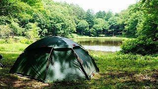 森の緑  野鳥の囀り 水面の揺らぎ ~夏のソロキャンプ~