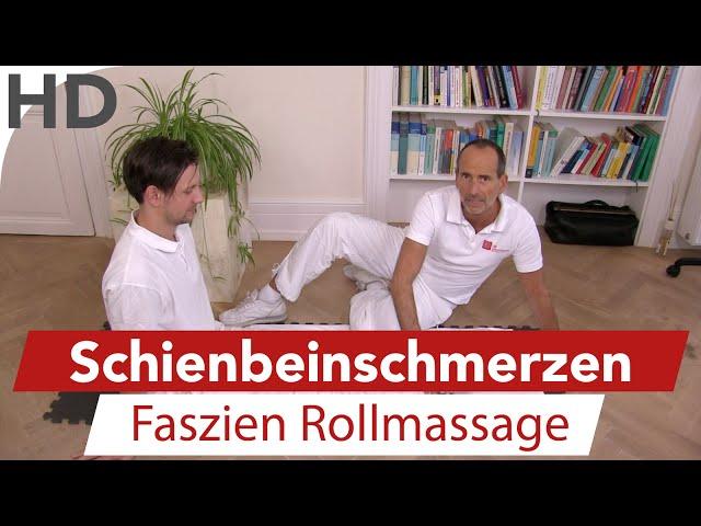 Schienbeinschmerzen - Übungen gegen Schmerzen im Schienbein mit der Faszien-Rolle