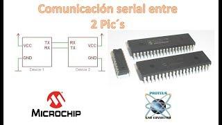 Comunicación Serial RS232 entre 2 pics  Encender LED
