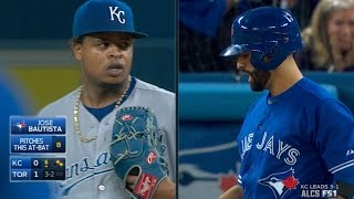 ALCS Gm5: Bautista draws walk after 10-pitch battle
