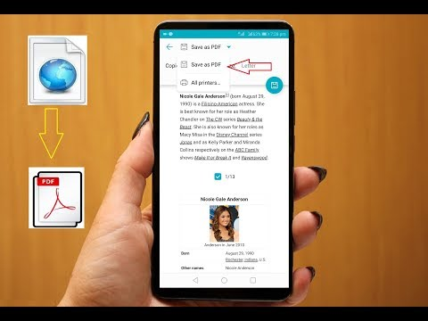 How To Convert Webpage To PDF In Android Phone Without Using Any App