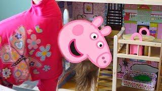 Свинка Пеппа играет в новом домике