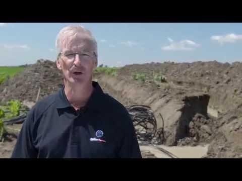 Geothermal ground loop in agricultural areas