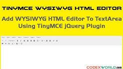 Add WYSIWYG HTML Editor to Textarea on Your Website
