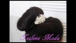 Coiffure Soirée/Mariage pour longs cheveux | Teslime Moda Thumbnail