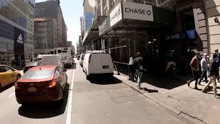 Biking down Broadway NYC in 4K