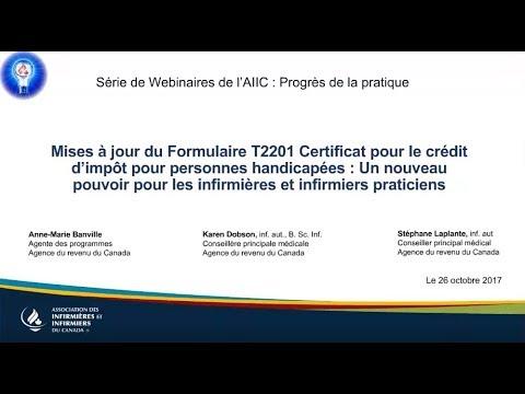 Mises à jour du Formulaire T2201 Certificat pour le crédit d'impôt pour personnes handicapées...