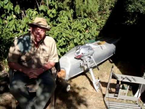 17 ft Square stern Grumman Canoe and 2 horse Honda motor FOR SALE