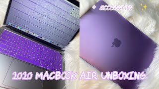 2020 MacBook Air Unboxing + Review *aesthetically pleasing*