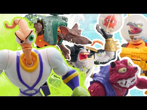 Earthworm Jim Action Figure Review - Playmates Toys
