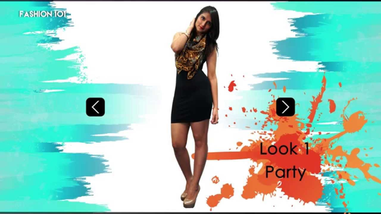 How To Wear The Same Little Black Dress In Different Ways - YouTube
