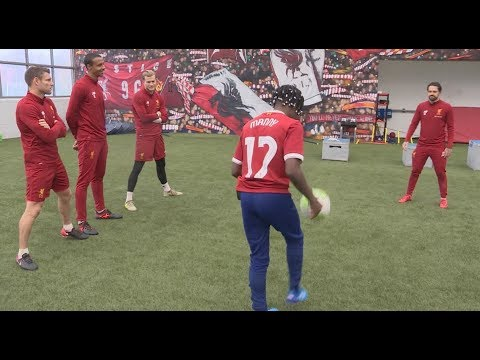 MANNY VS LIVERPOOL FC! TWO TOUCH CHALLENGE!!!