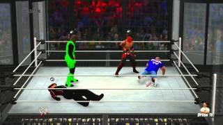 WWE 2K14 - online game play - me playing as John Cena
