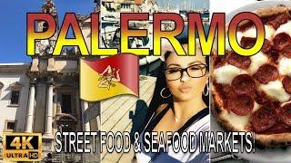4K HD - Palermo Sicily - Incredible Street Food & Markets with Mariah Milano!