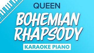 Bohemian Rhapsody (Lower Piano karaoke) QUEEN