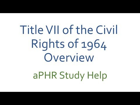 intro to aPHR help. Title VII video one intro