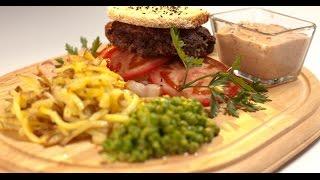 Бургер из говядины с картофелем пай | Мясо. От филе до фарша