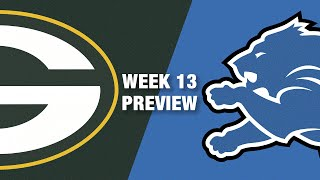 Packers vs. Lions Preview (Week 13) | NFL