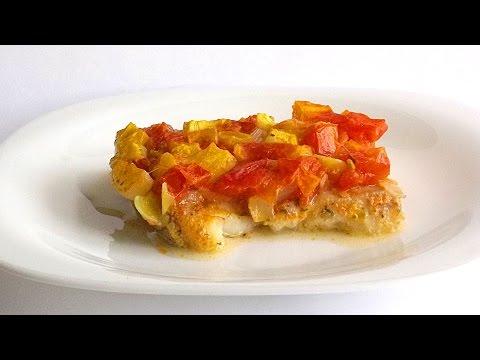 Филе Пангасиуса под Овощной Шубой кулинарный видео рецепт