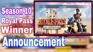 Get Season 10 Free Royal pass || Giveaway Winner Announced Season 10 Pubg Rp